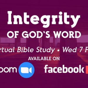 Virtual Bible Study Available Tonight At 7PM